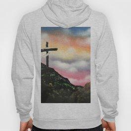 Colorful Sunset Cross Hoody