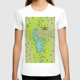 Lough Ree Ireland map travel poster T-shirt