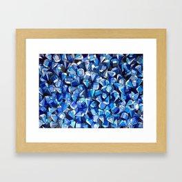 Fond Bleu Framed Art Print