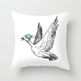 I'm Down For Coffee – Tuque Goose Throw Pillow