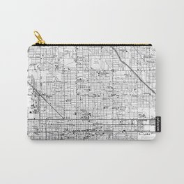 Vintage Map of Phoenix Arizona (1952) 2 BW Carry-All Pouch