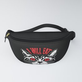 I Will Eat Your Soul Satanic Cat Spooky Halloween design Fanny Pack
