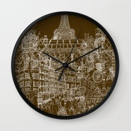 Paris! Wall Clock