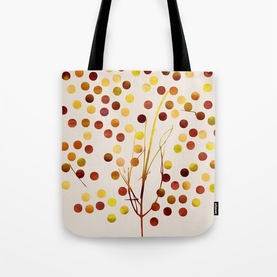 Tree of Life_Amber by Jacqueline and Garima Tote Bag