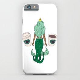 Mermaid Coffee Butt Dark - Fast Food Butts iPhone Case