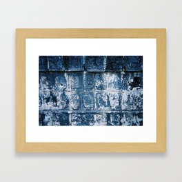 Wall Relief No. 7 in Chichen Itza, Mexico (2004) Framed Art Print