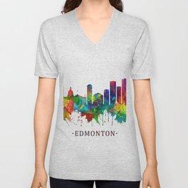 Edmonton Canada Skyline Unisex V-Neck