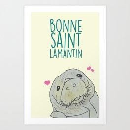 Carte Postale - Bonne saint Lamantin Art Print