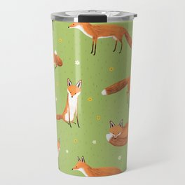 Red Foxes Travel Mug