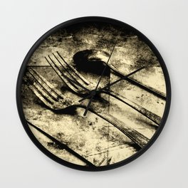 Vintage Forks and Spoon Wall Clock
