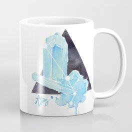 Aquamarine Aries Constellation Crystal Coffee Mug