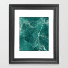 Summer Green Marble Framed Art Print