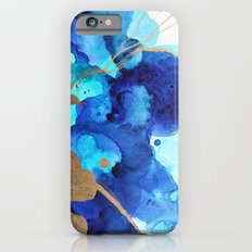Blue Watercolor Abstract iPhone 6s Slim Case