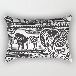 African Tribal Pattern No. 17 Rectangular Pillow