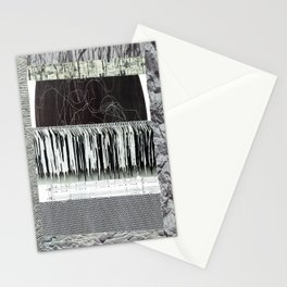 Collage - Black on White Stationery Cards