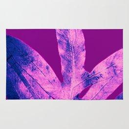 Purple Fern Blue Rain Rug
