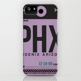 PHX Phoenix Luggage Tag 1 iPhone Case