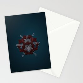 Abstract Fabric and Stone Stationery Cards