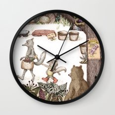 Mr.Brown is late for the market Wall Clock
