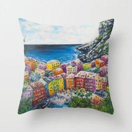 Cosy Cove from Cinque Terre, Italia Throw Pillow