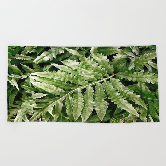 Lush Ferns Beach Towel