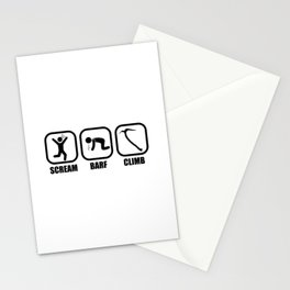 Scream, Barf, Climb Stationery Cards