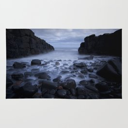 Mist, Rocks and Pebble Beach Rug