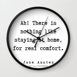 14    | Jane Austen Quotes | 190722 Wall Clock