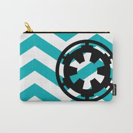 Imperial Cog on Blue Chevrons Carry-All Pouch