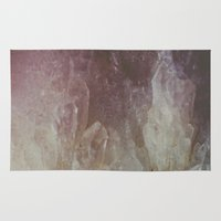 crystal Area & Throw Rugs featuring Crystal by Neon Wildlife