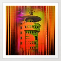Lighthouse romance17 Art Print