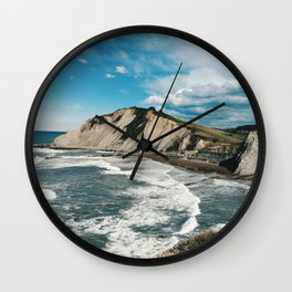 Zumaia, basque country - Travel photography Wall Clock