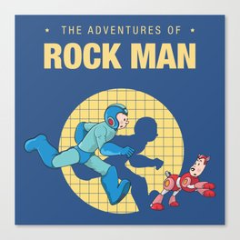 THE ADVENTURE OF ROCKMAN Canvas Print