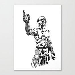 Techno Viking Love  Canvas Print
