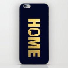 Alabama home state faux gold foil print iPhone & iPod Skin