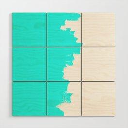 Shiny Turquoise balance Wood Wall Art