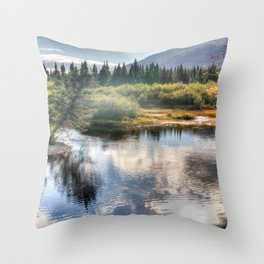 Fall Fly Fishing in Maine Throw Pillow