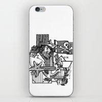 pirate iPhone & iPod Skins featuring Pirate by María Nikólskaya