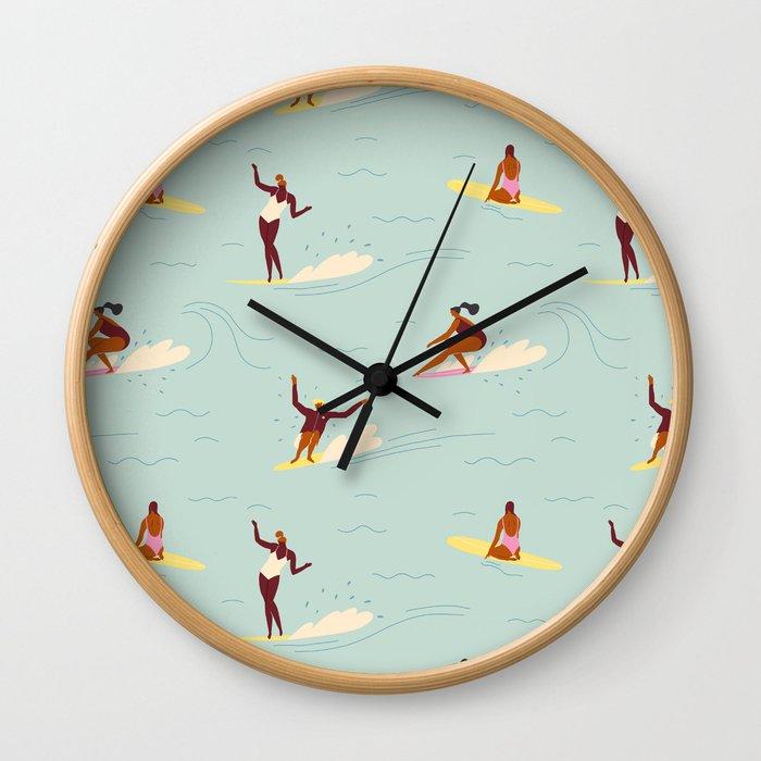 Waikiki beach Wall Clock