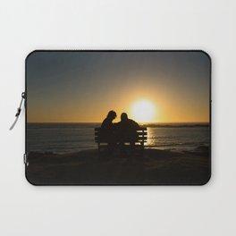 Seniors couple enjoying colorful sunset Laptop Sleeve