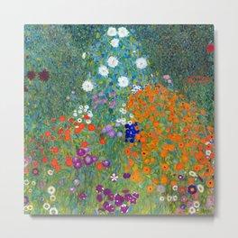 Gustav Klimt - Cottage Garden Metal Print