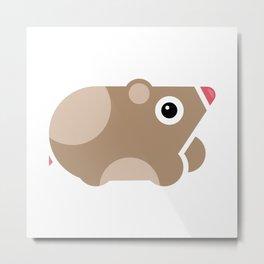 Hamster mania - geometric illustration Metal Print