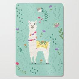 Festive Llama Cutting Board