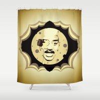 neil gaiman Shower Curtains featuring Neil deGrasse Tyson  |  Le Voyage Dans La Lune by Silvio Ledbetter