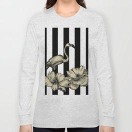 Stripe Flamingo Long Sleeve T-shirt