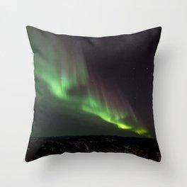 Northern Green Light Throw Pillow