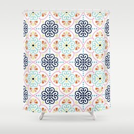 Pastel Moroccan Pattern Shower Curtain