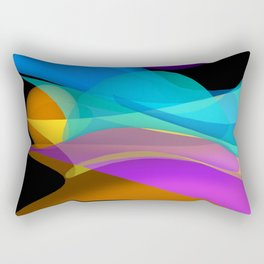 waves on black -2- Rectangular Pillow