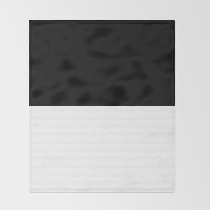 Black and white - Half and Half Split Throw Blanket