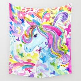Mystical Rainbow Unicorn Wall Tapestry